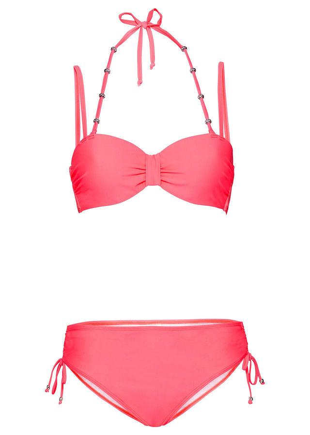 1cd7c6cb1b7d3a Bikini na fiszbinach (2 części) czerwony koralowy • 89.99 zł • bonprix