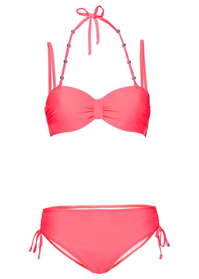 Merevítős bikini (2-részes) neonpiros • 6999.0 Ft • bonprix 12233d2804