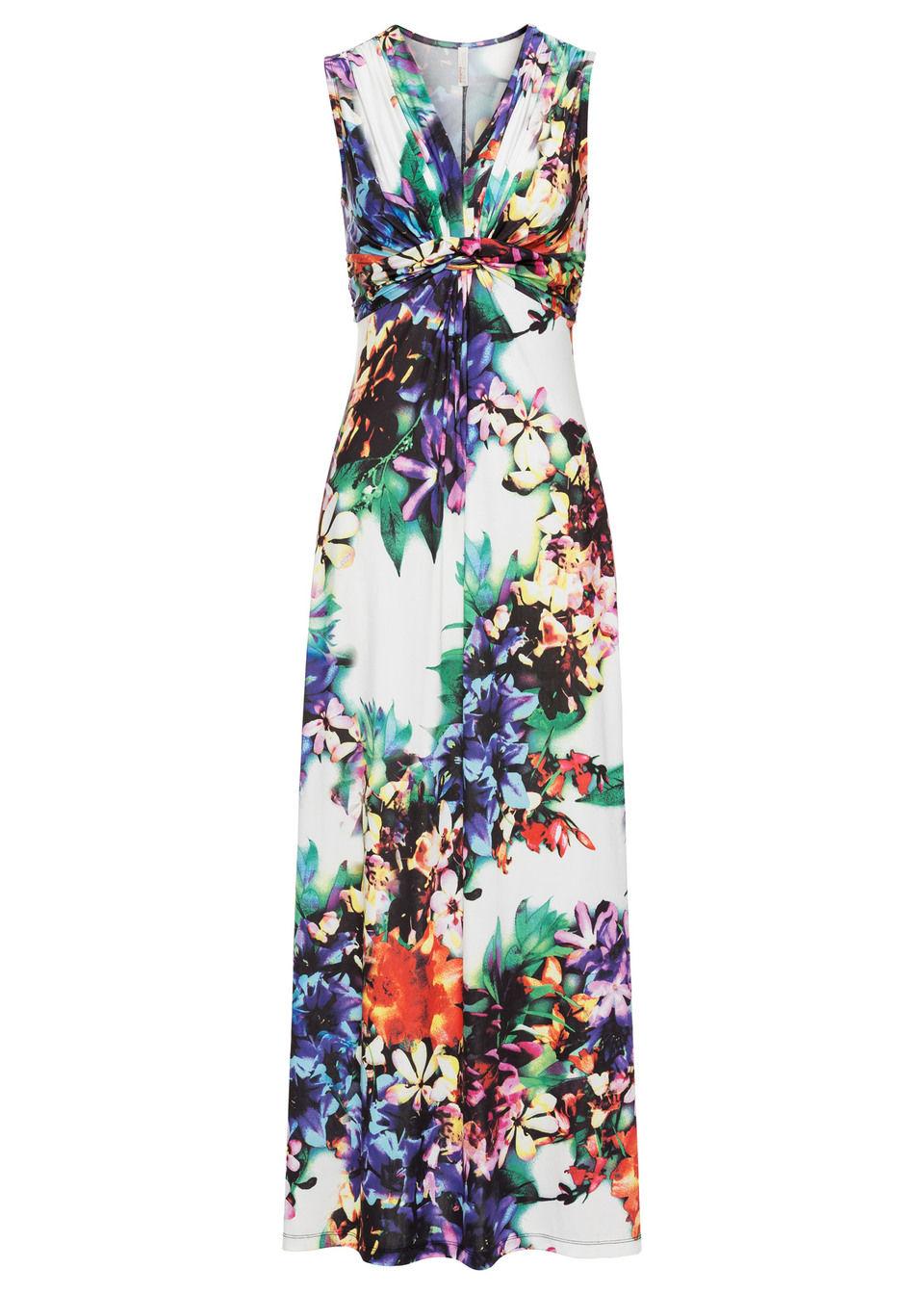Sukienka letnia bonprix biały w kwiaty