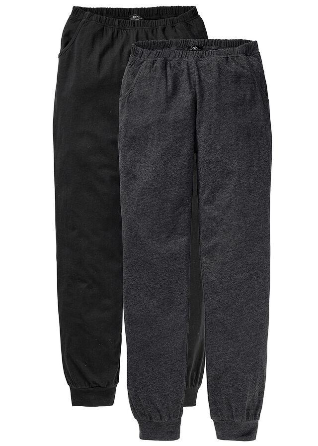 073aa6c5cd67 Pyžamové nohavice (2ks) • antracitová melírovaná čierna • bonprix obchod