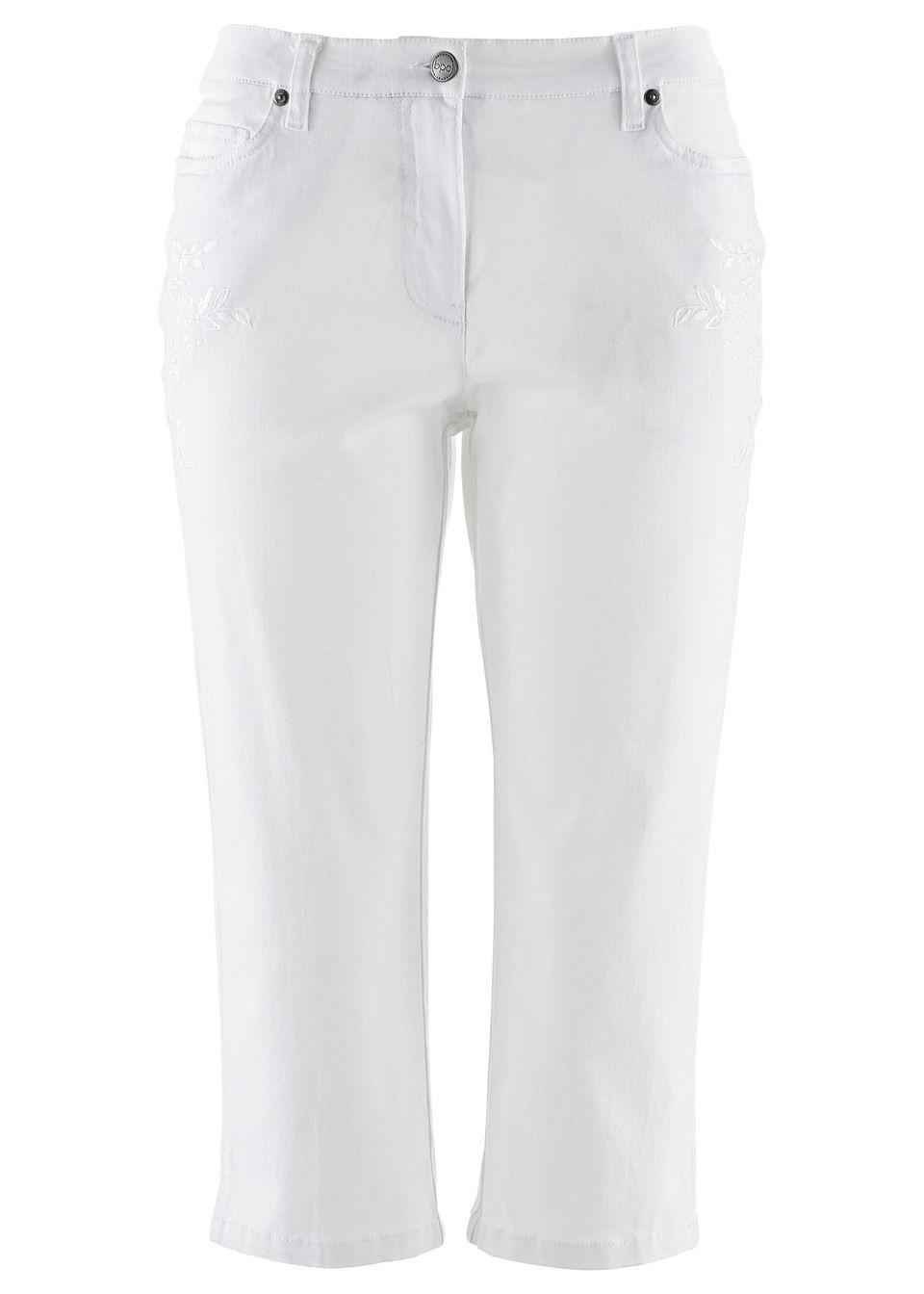 Pantaloni capri cu stretch bonprix