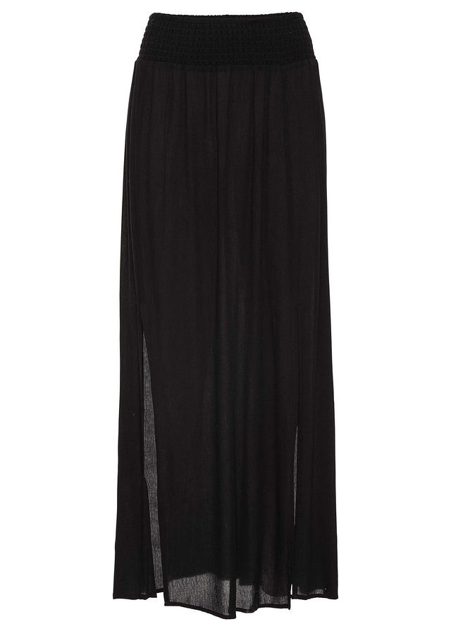 87f52ee78017 Maxi sukňa s rozparkami čierna Trendová • 16.99 € • bonprix