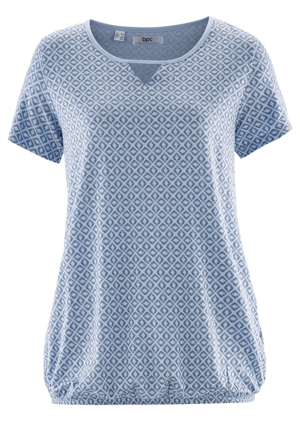 Bluză cu elastic şi mâneci scurte bonprix
