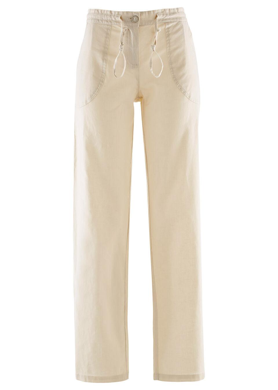 27c525ea31f Льняные брюки с широкими брючинами светлый камыш • 599.0 грн • bonprix
