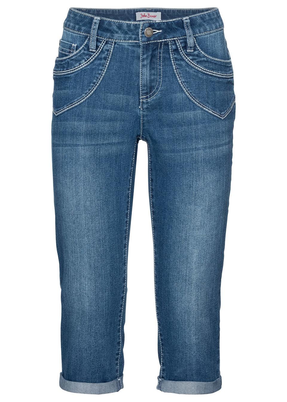 Jeans capri stretch, model confortabil bonprix