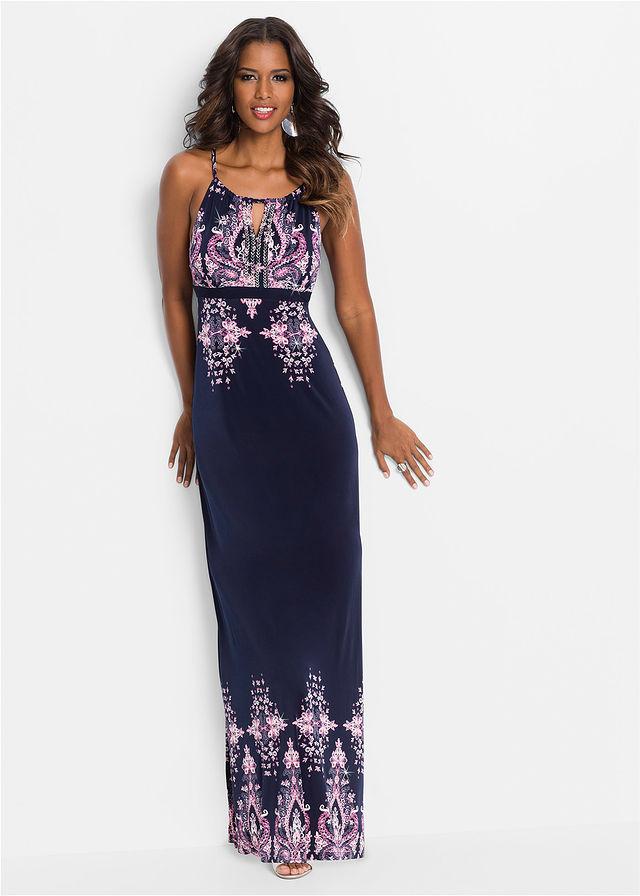 62595c56a9bc Letné šaty tmavomodrá-ružová vzorovaná • 29.99 € • bonprix