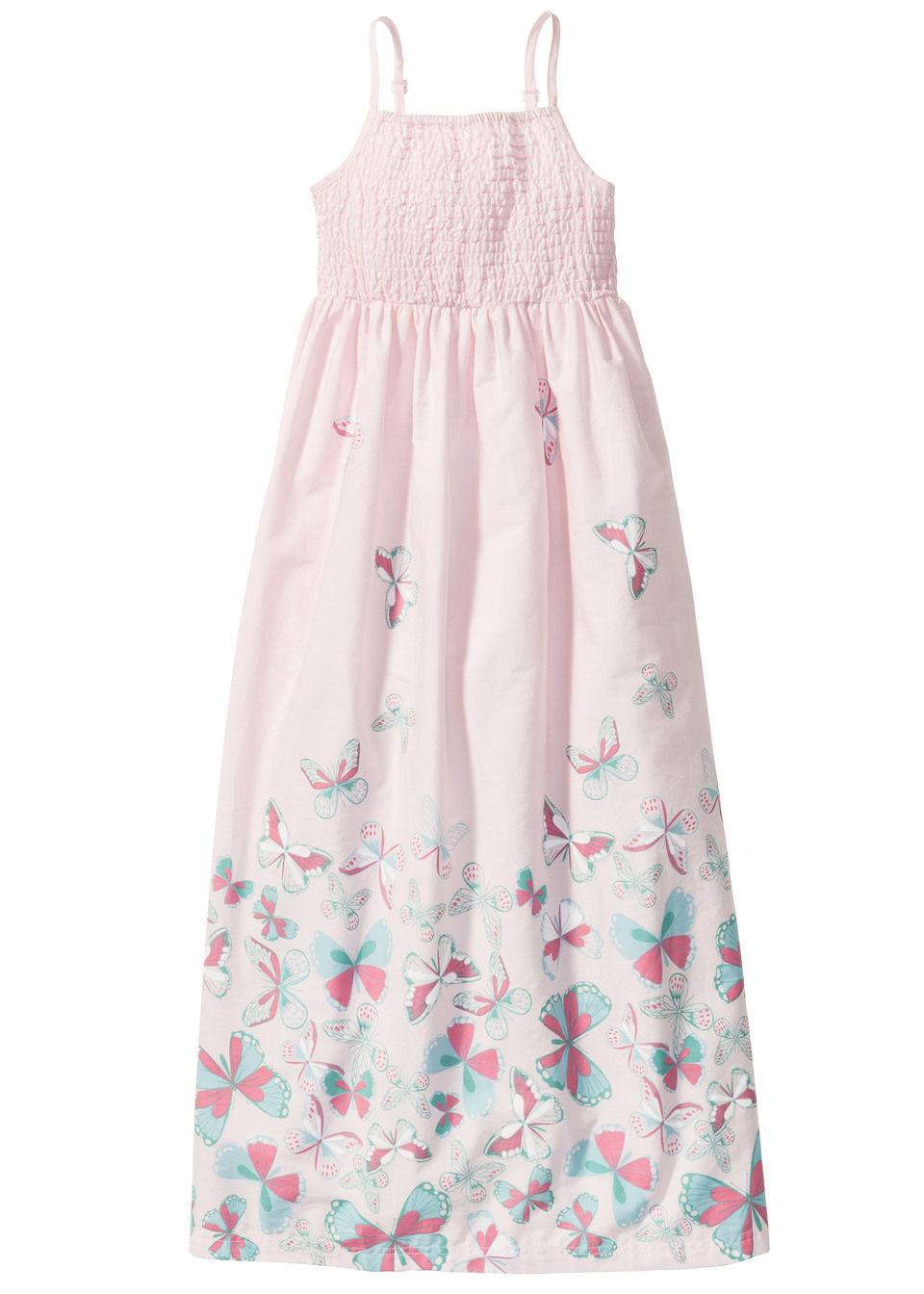 Фото - Макси-платье на бретелях-спагетти от bonprix нежно-розового цвета