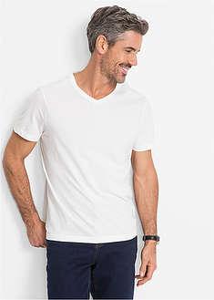 T-shirt z dekoltem w serek (3 szt.) Regular Fit-bpc bonprix collection
