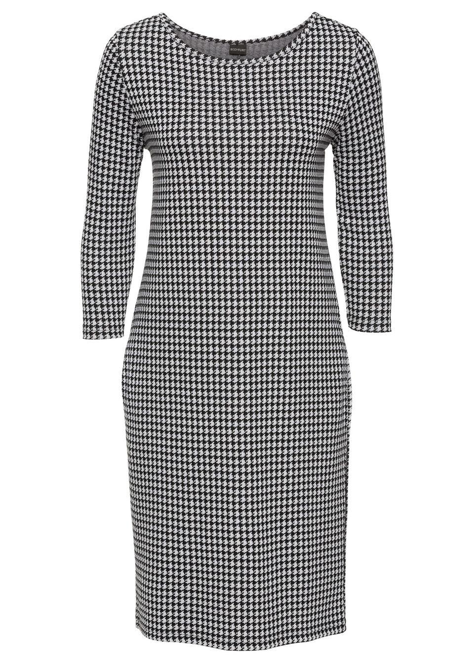Šaty čierna biela vzorovaná Stanú sa • 14.99 € • bonprix 8e36c0544fb