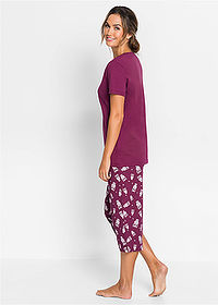 Pijama capri mov/alb bpc bonprix collection 2