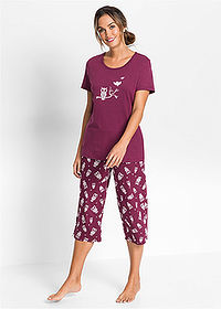 Pijama capri mov/alb bpc bonprix collection 1