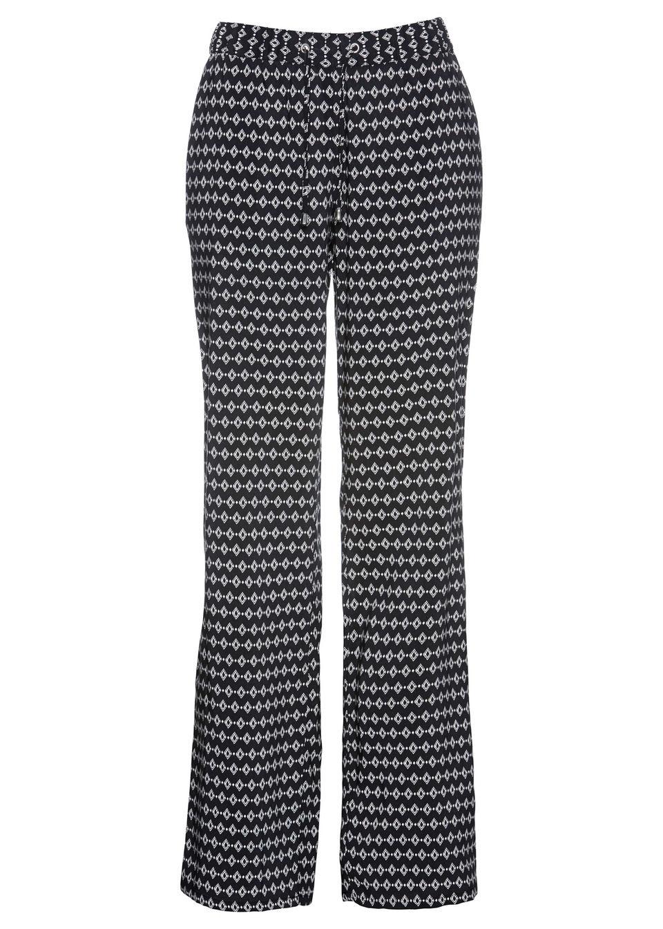 Pantaloni din viscoză cu imprimeu bonprix