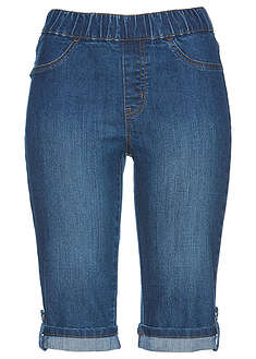 Bermudy dżinsowe z gumką w talii niebieski