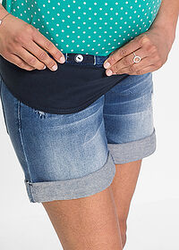 Short denim gravide albastru stone bpc bonprix collection 5