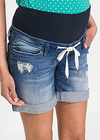 Short denim gravide albastru stone bpc bonprix collection 4