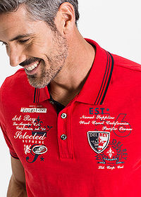 Tricou polo regular fit roșu bpc selection 5