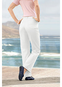 Pantaloni stretch alb bpc selection 6