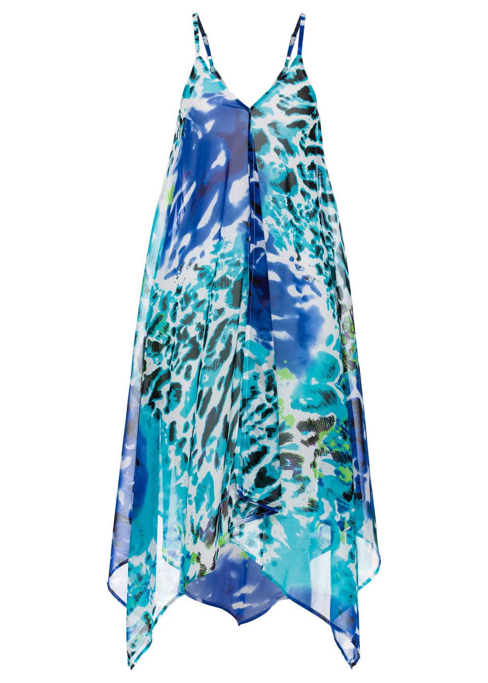 Sukienka plażowa bonprix niebieski