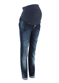 Dżinsy ciążowe Boyfriend ze zwężanymi nogawkami ciemnoniebieski
