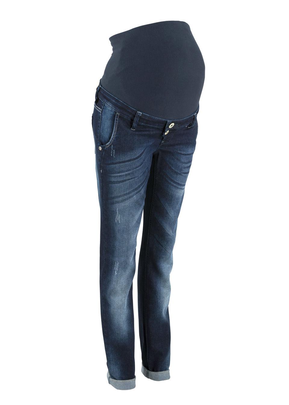 Для будущих мам: джинсы в стиле «бойфренд» с брючинами зауженного покроя