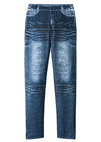 Colanţi fete aspect denim albastru stone bpc bonprix collection 0