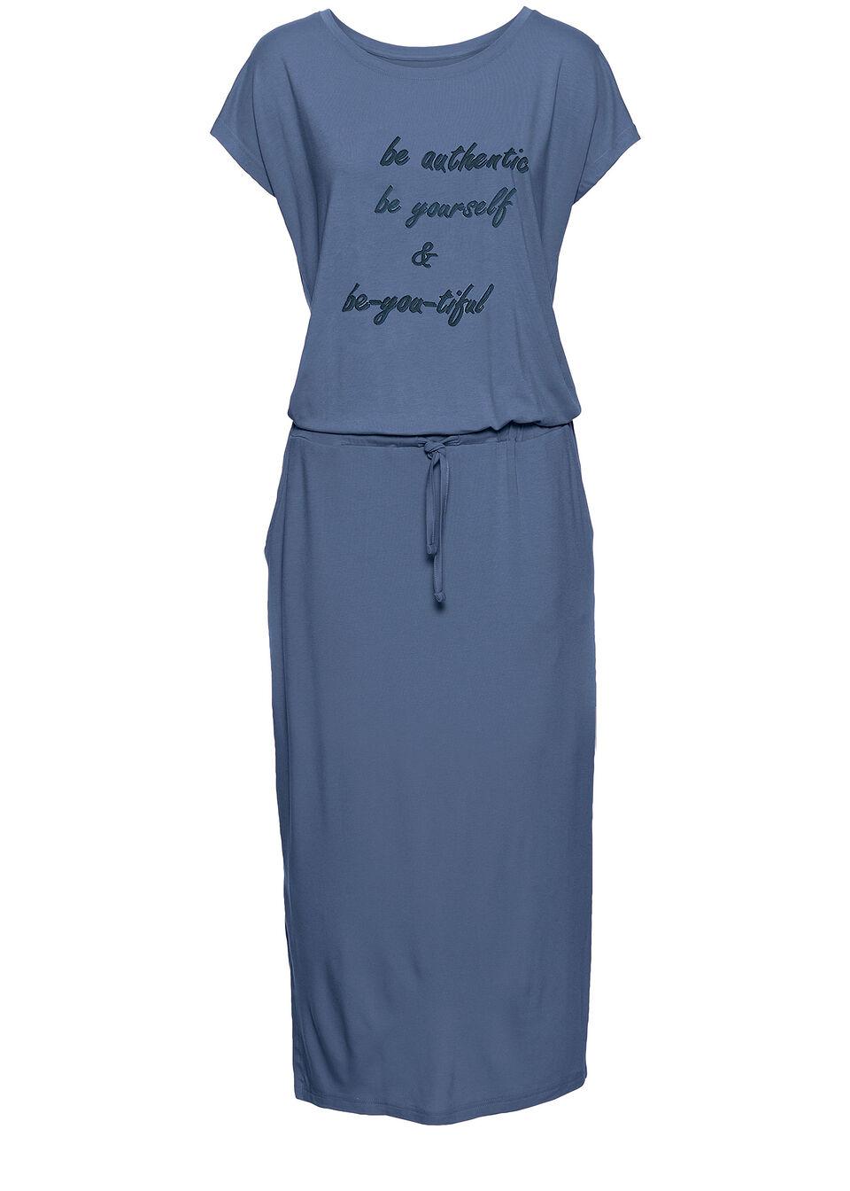 Трикотажное платье с принтом и коротким рукавом