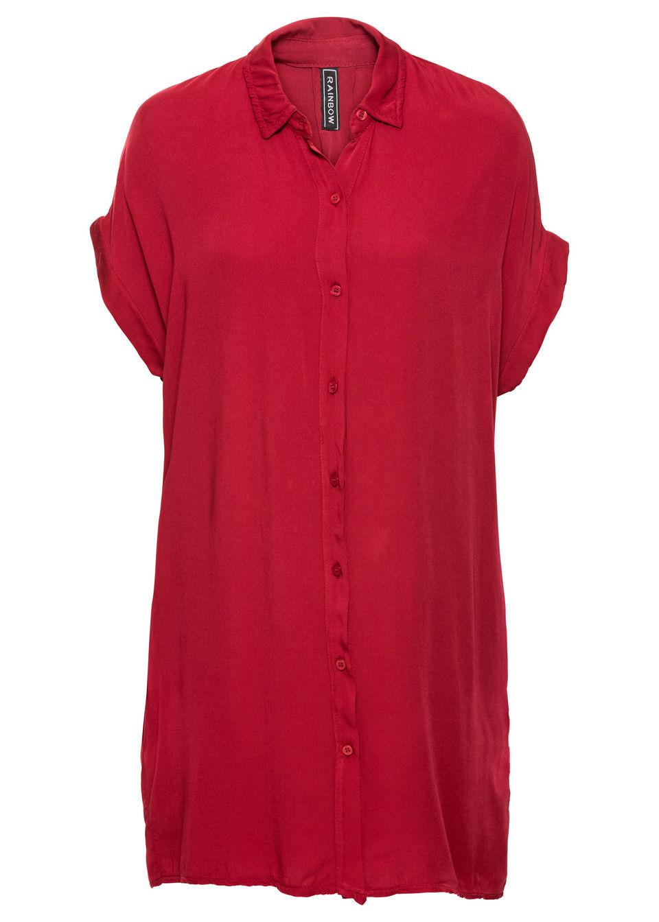 Sukienka koszulowa bonprix czerwony