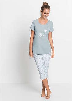 Piżama z krótkim rękawem i spodniami 3/4-bpc bonprix collection
