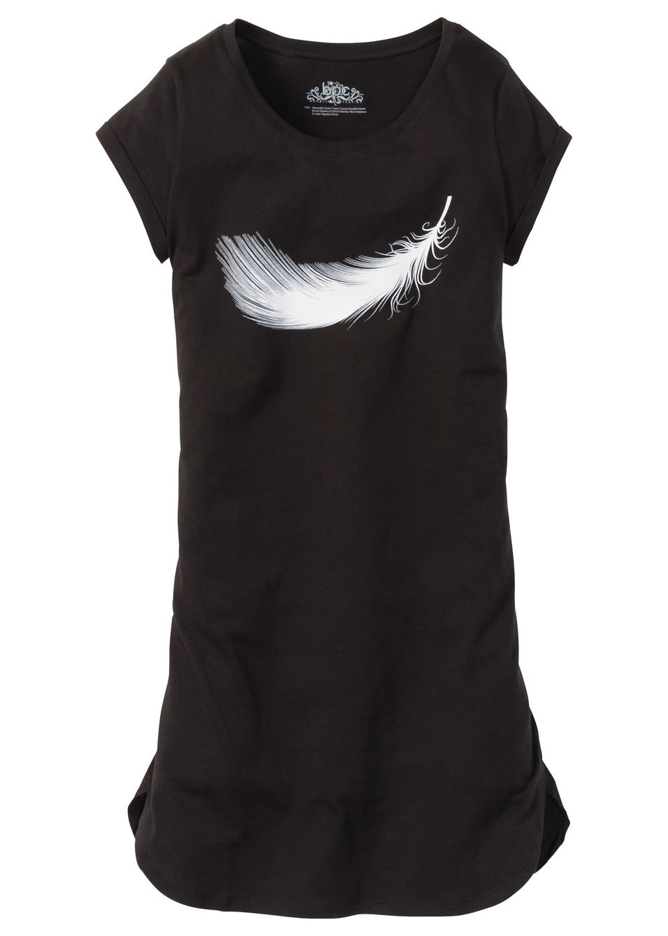 Купить Ночная рубашка из органического хлопка, bonprix, черный с рисунком