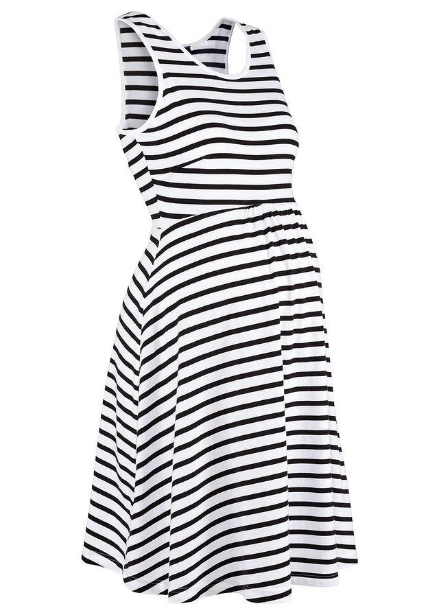2a7ff4cca1 Csíkos kismama ruha fekete/fehér csíkos • 6999.0 Ft • bonprix