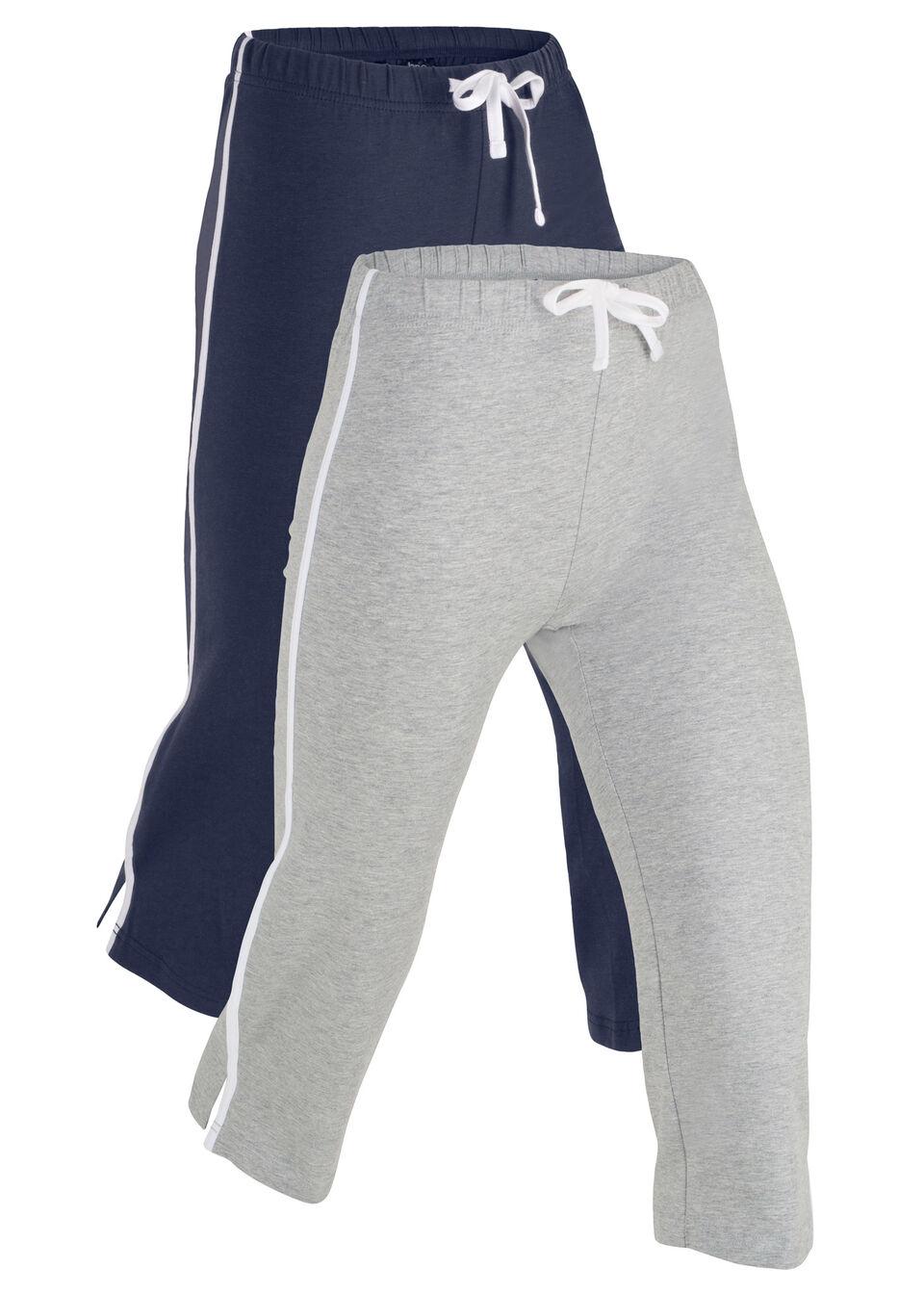 Спортивные брюки-капри (2 шт.) от bonprix