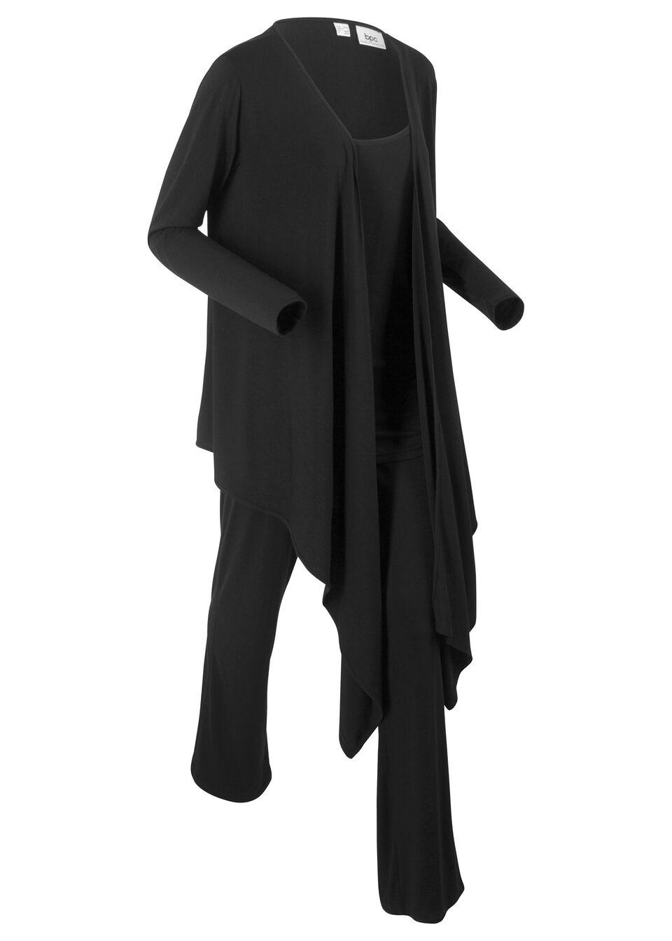 Брюки + топ + куртка для велнеса (3 изд.) + мешок для хранения от bonprix
