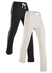Pantalon sport 2 buc. nivel 1 negru/gri deschis melanj bpc bonprix collection 0