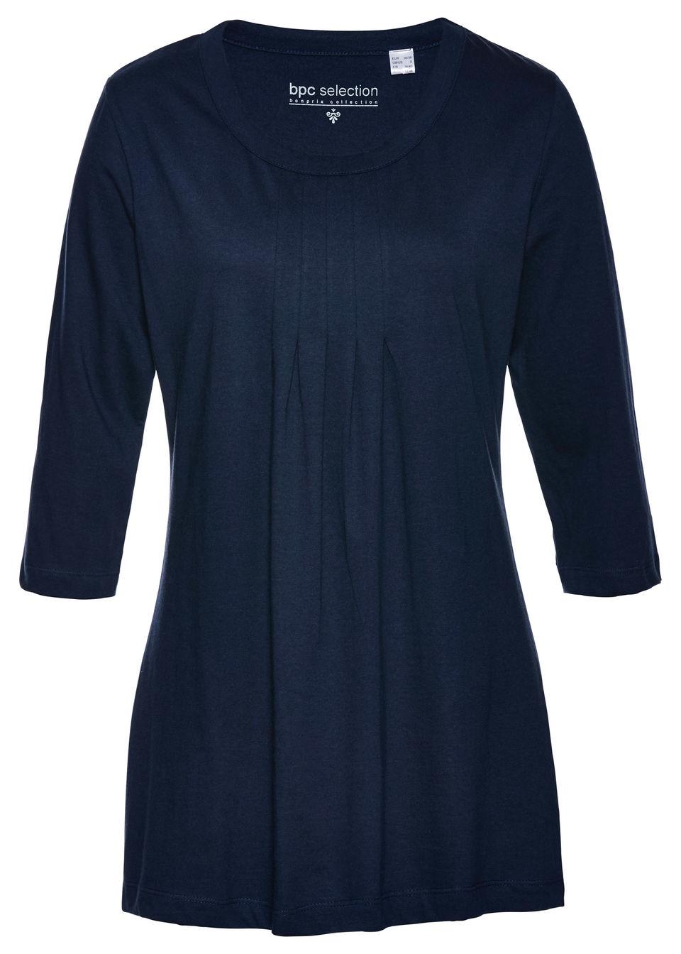 Купить Футболки, Удлиненная футболка с рукавом 3/4, bonprix, темно-синий
