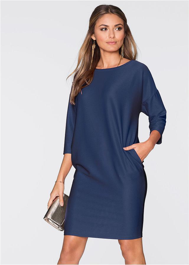 cd93e244fe Sukienka ciemnoniebieski Prosty fason z • 59.99 zł • bonprix
