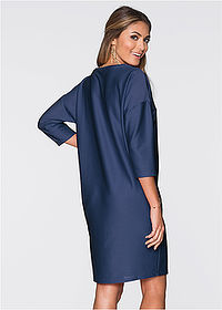 196d3bf18a Sukienka ciemnoniebieski Prosty fason z • 59.99 zł • bonprix