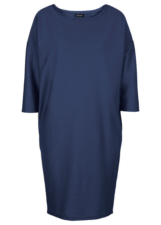 e27026d61a 3/4-es ujjú dzsörzé ruha sötétkék Alap • 4499.0 Ft • bonprix