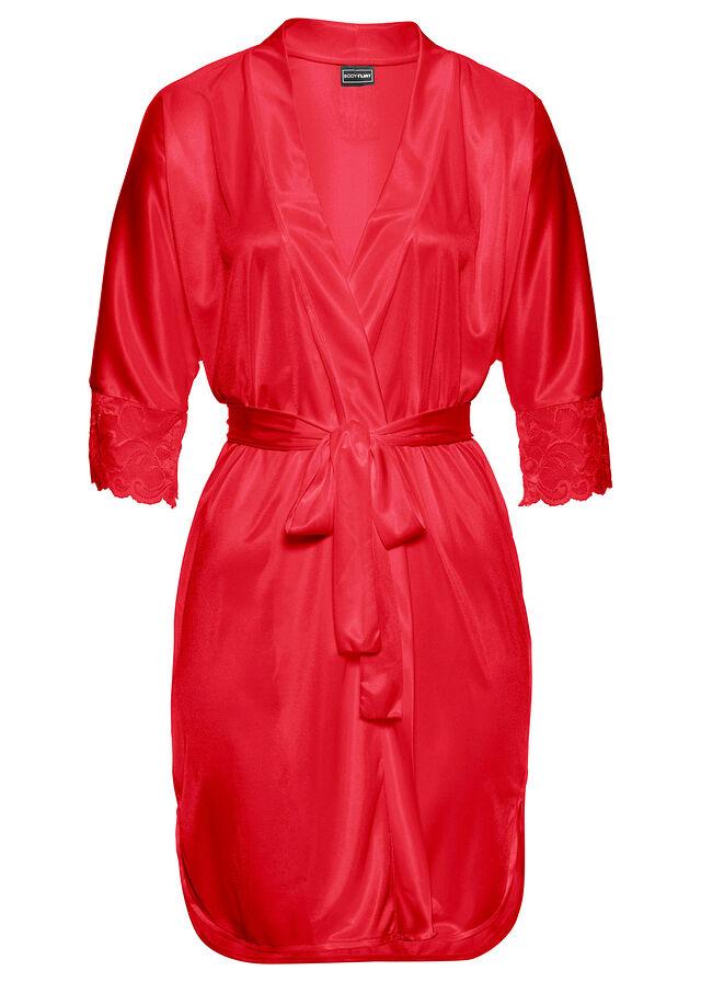 dc2b2e99bb33 Kimono červená V lesklom saténovom • 21.99 € • bonprix