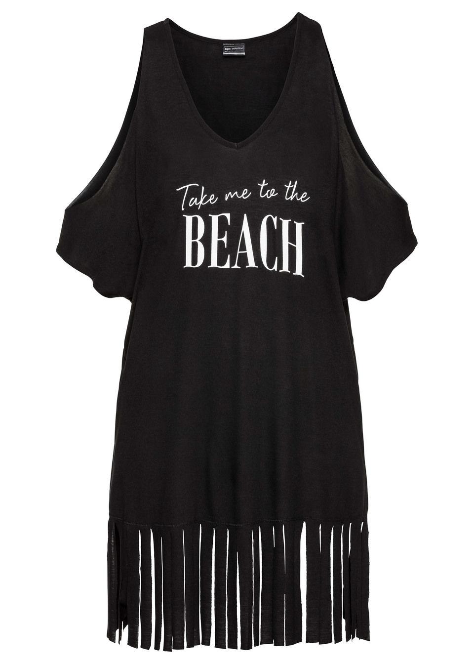 Tricou de plajă cu franjuri bonprix