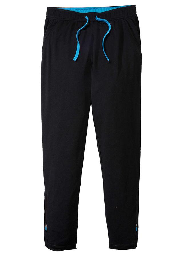 Športové nohavice čierna capri modrá • 11.99 € • bonprix ddeee90a5d2