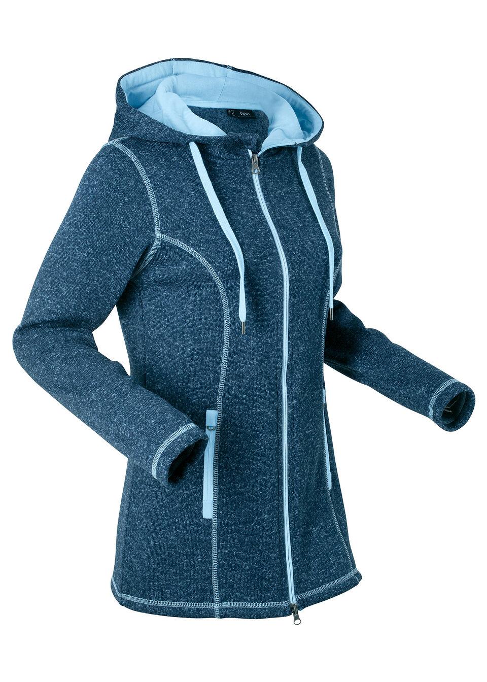 Вязаная флисовая куртка с длинным рукавом от bonprix