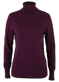 Sweter z golfem czarny bez bpc bonprix collection 0