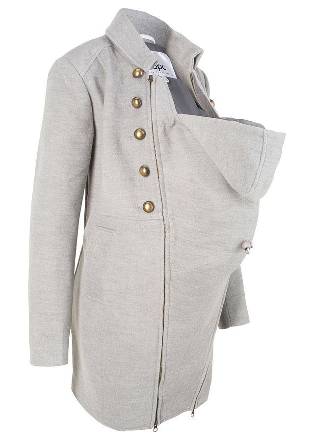 8c086d959d74 Materský kabát svetlosivá melírovaná S • 59.99 € • bonprix