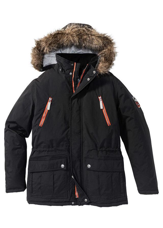 Куртка-парка Regular Fit на ватиновой подкладке черный • 2099.0 грн •  bonprix 4cdd7181f5d7c