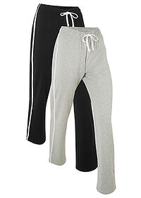 Pantaloni sport (2buc.),  nivel 1 negru/gri deschis melanj bpc bonprix collection 0