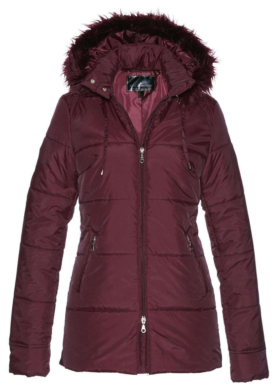 Купить Куртка с опушкой из искусственного меха, bonprix, кленово-красный