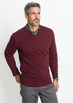 Sweter z dekoltem w serek bpc bonprix collection 0