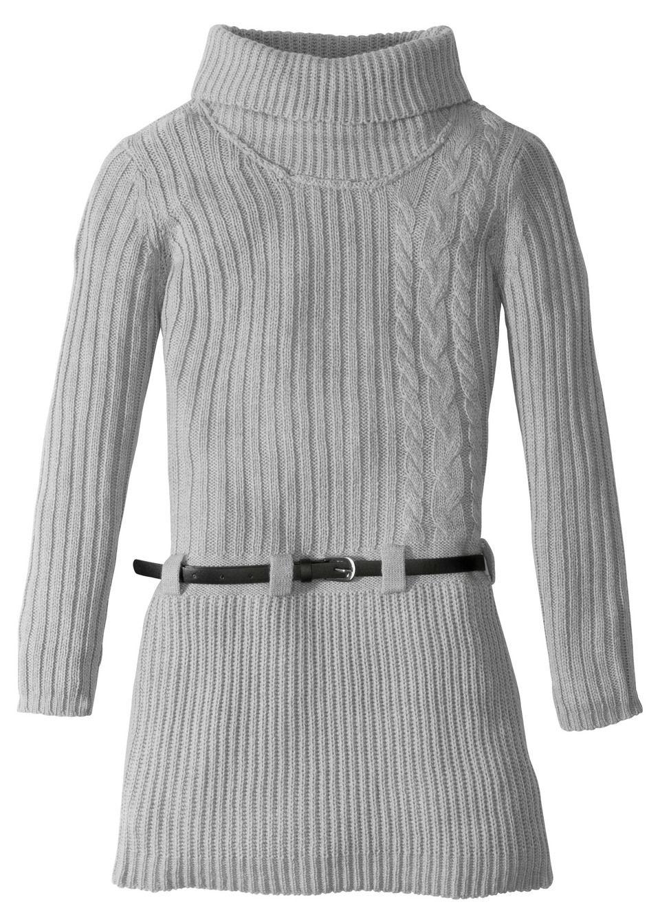 Вязаное платье + ремень (2 изд.) от bonprix