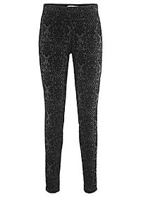 Pantaloni Punto di Roma design Maite Kelly negru imprimat bpc bonprix collection 0