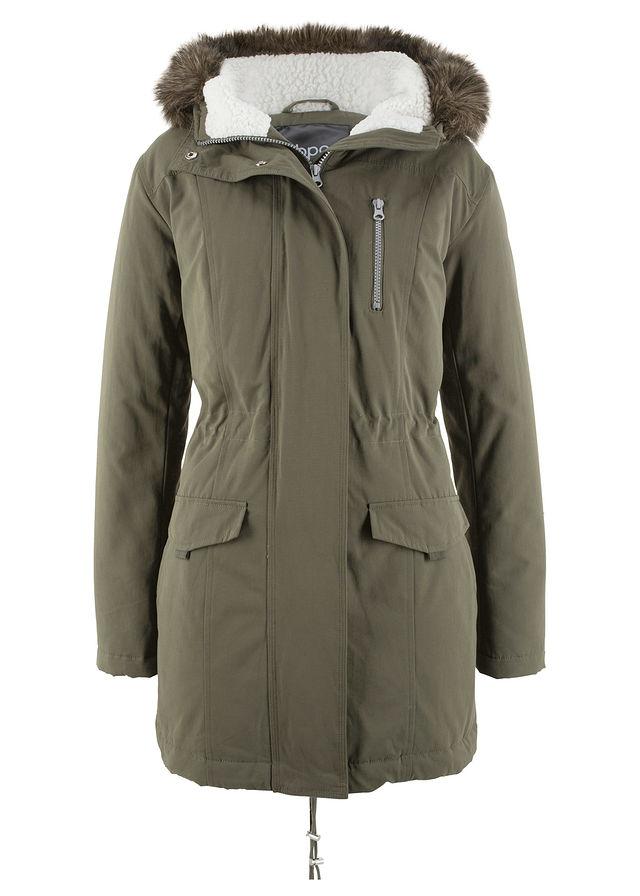 Kapucnis parka kabát szőrmeutánzattal sötét olivazöld • 16999.0 Ft • bonprix 2119dd94b8